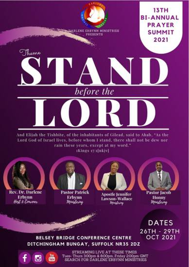 Stand before the Lord